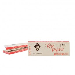 CAPTAIN PIPE ROLLING PAPER 1.1/4 - RICE 50 Hojas