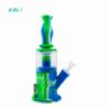 Bong 4 en 1 Doble Percolador Waxmaid Azul Blanco Verde