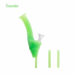"Waxmaid 8"" Universal Traveler Water Bottle Pipe GID Green"