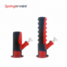 """Waxmaid 8.46"""" Springer Mini Collapsible Silicone Water Pipe Red Black"""