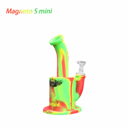 "Waxmaid 7.3"" Magneto S Mini Silicone Water Pipe Rasta"