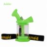 "Waxmaid 3"" Silicone Glass Mini Bubbler GID Green"