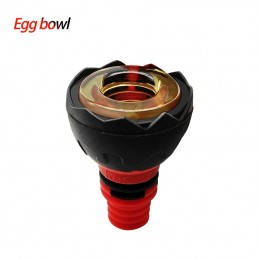 Waxmaid 14mm 18mm Egg Silicone Glass Bowl Black Red
