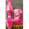 """Waxmaid 8"""" Silicone Glass Nectar Collector Kit Pink Cream"""