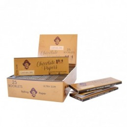CAPTAIN PIPE ROLLING PAPERS 1.1/4 - CHOCOLATE Display x25